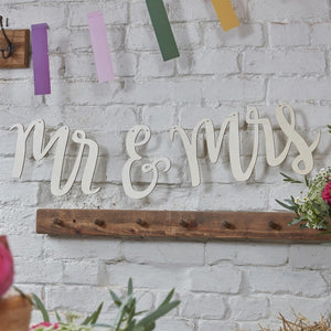 Ginger Ray Mr & Mrs Wooden Bunting
