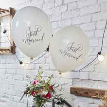 Load image into Gallery viewer, Ginger Ray Just Married Balloons