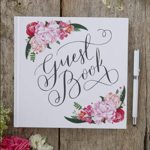Ginger Ray Floral Guest Book