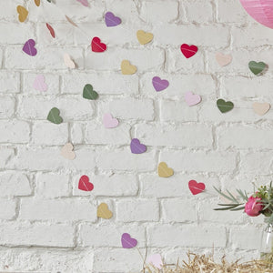 Ginger Ray Multi-Coloured Heart Backdrop