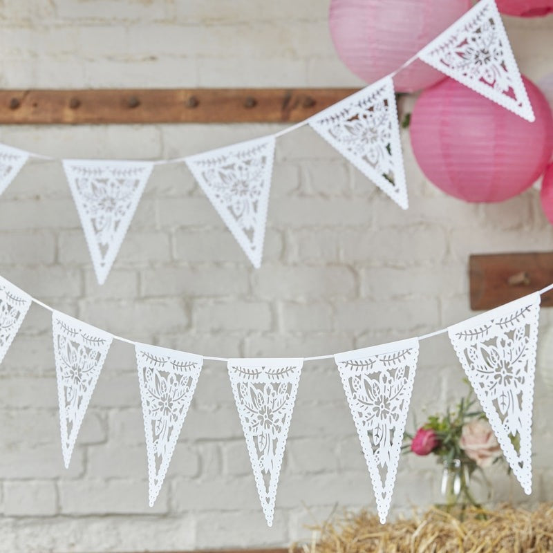 Ginger Ray Die Cut Floral Paper Bunting
