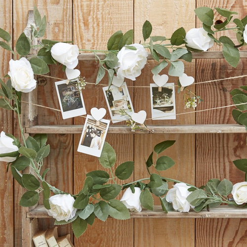 Ginger Ray Decorative White Flower Garland