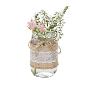 Ginger Ray Hessian Wrapped Glass Jars