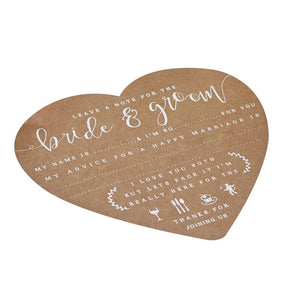 Ginger Ray Advice For The Bride And Groom Cards