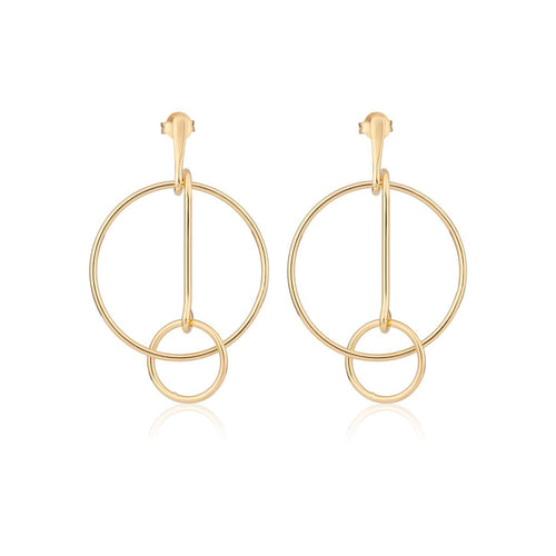 Interconnecting Hoop Earrings