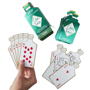 Gin Shaped Playing Cards Gift