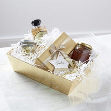 Load image into Gallery viewer, Gold Christmas Present Hamper Basket Making Kit