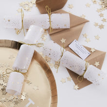 Load image into Gallery viewer, Gold Confetti Filled Christmas Crackers