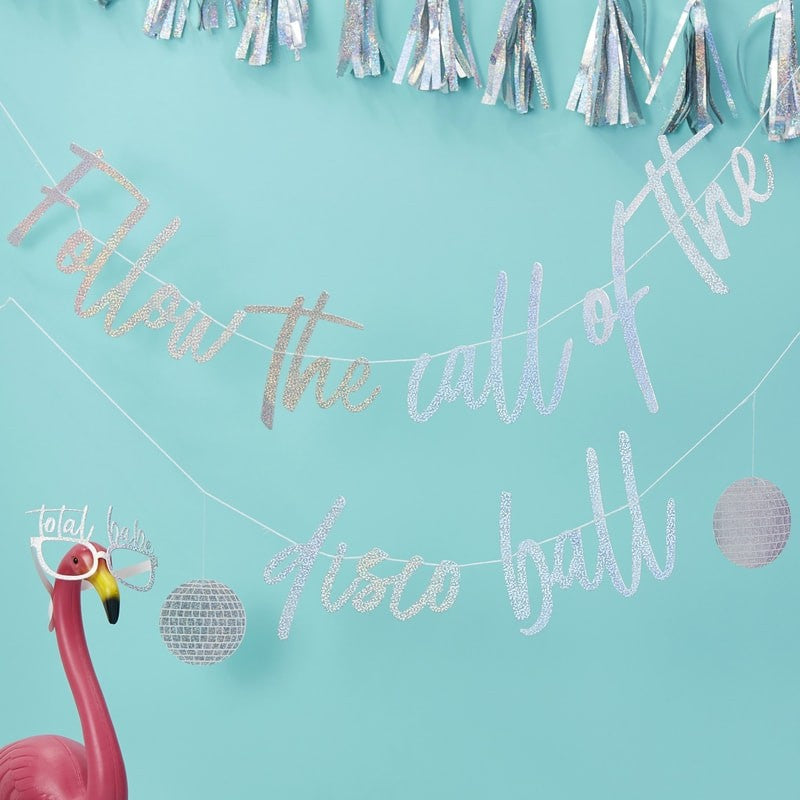 Ginger Ray Foiled 'Follow the Call of the Disco Ball' Bunting