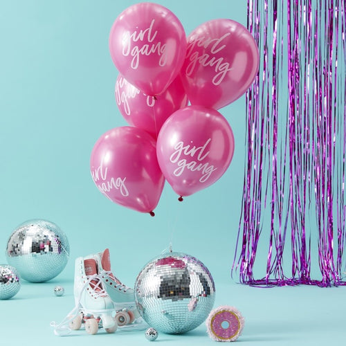 Ginger Ray Pink Girl Gang Printed Balloons