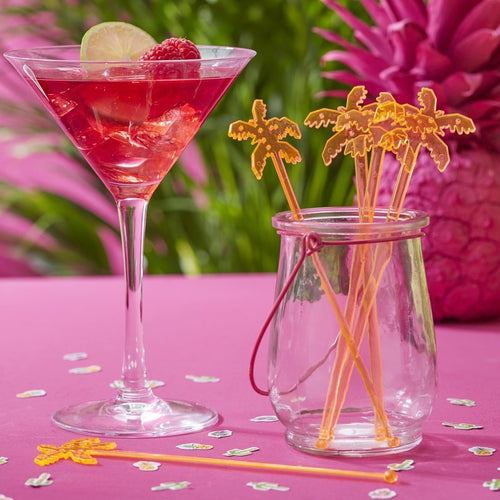 Ginger Ray Orange Palmtree Stirrers