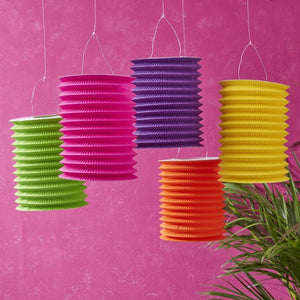 Ginger Ray Tropical Colourful Paper Lanterns