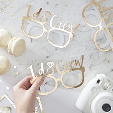 Load image into Gallery viewer, Ginger Ray I do Crew gold foiled fun glasses