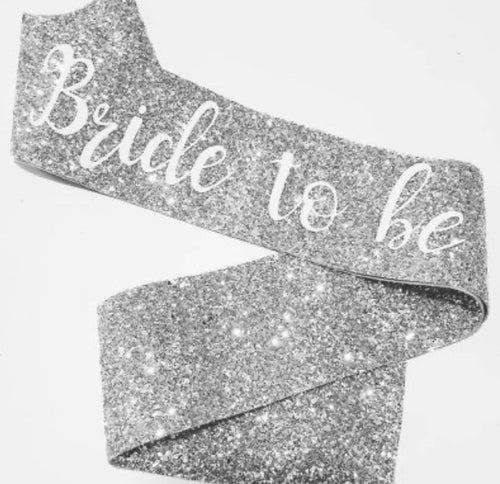 Nora & Katie Bride to be Glitter Sash - Blinging Bride Hen Party