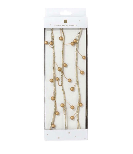 Talking Tables Botanical Gold Berry String Lights