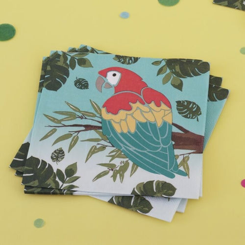 Ginger Ray Parrot Paper Napkins