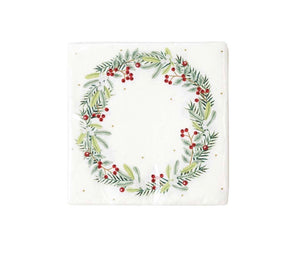 Talking Tables Botanical Berry Wreath Napkins Pack of 20
