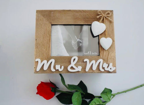 Sass & Belle Mr & Mrs Wooden Boxed Photo Album
