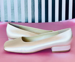 Shades Bridal Shoes Winter White Satin