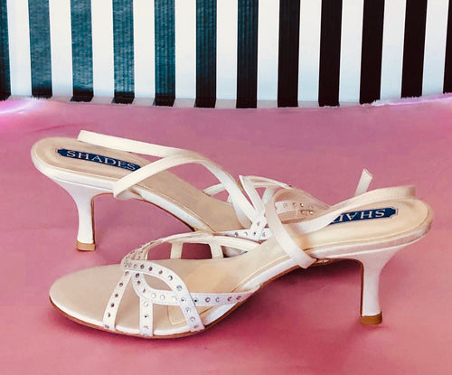 Shades Ivory Satin Bridal Heel Sandals