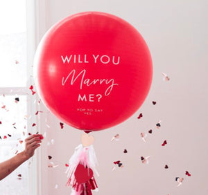 "Ginger Ray Will You Marry Me' Balloon - 36"" Latex"