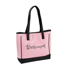 Lillian Rose Bridesmaid Pink Tote Bag