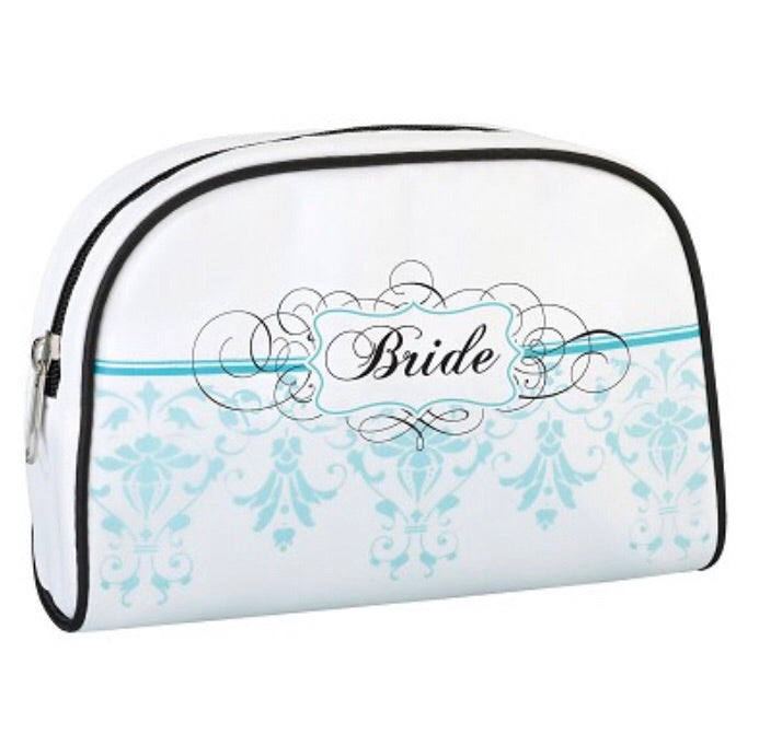 Lillian Rose Bride Aqua Make-up Bag