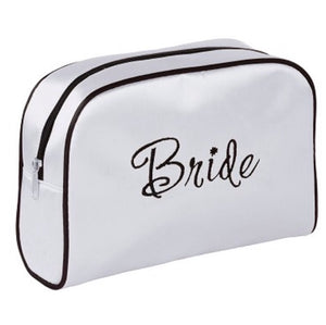 Lillian Rose Bride White Make-up Bag