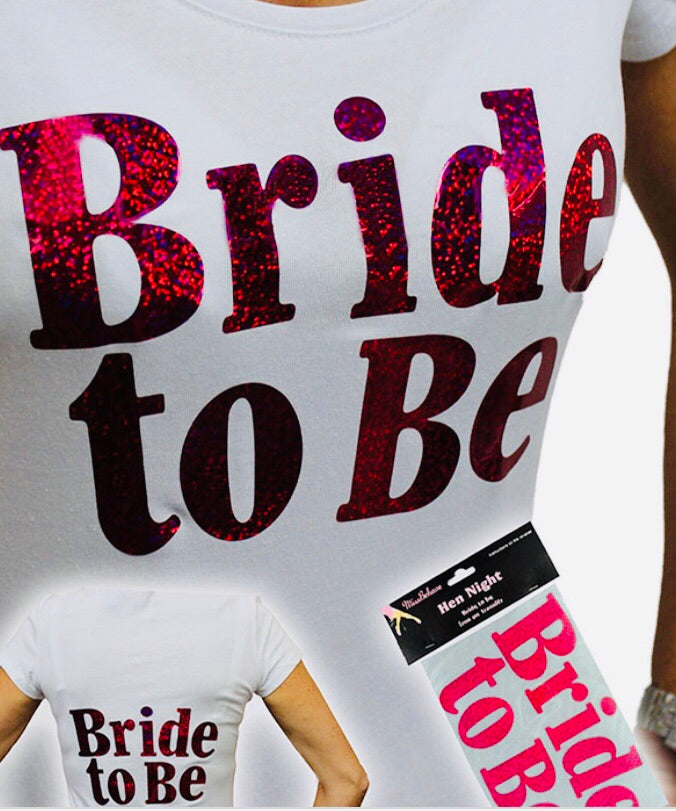 Bride To Be Large Pink Iron-on Logo