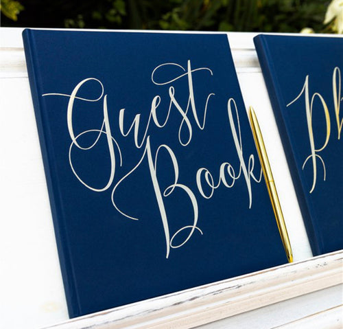 Navy & Gold Foiled Guest Book