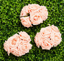 Load image into Gallery viewer, Peach Foam Rose Bud Decorations