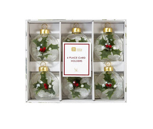 Talking Tables Botanical Holly Bauble Placecard Holders