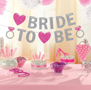 Glitter Bride to Be Garland