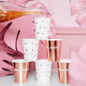 Rose Gold Penis Cups Pack of 6