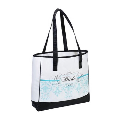 Lillian Rose Bride Honeymoon Aqua Tote Bag