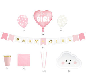 It's A Girl Baby Shower Party Set