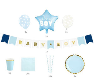 It's A Boy Baby Shower Party Set