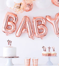 Load image into Gallery viewer, Ginger Ray Rose Gold Baby Balloon Bunting Decoration