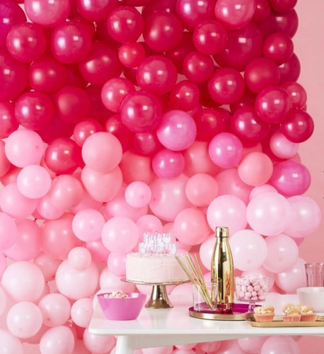 Ginger Ray Ombré Pink Balloon Wall Kit