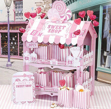 Load image into Gallery viewer, Pink Stripe Sweet Shop Stall