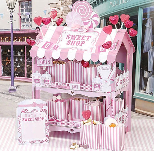 Pink Stripe Sweet Shop Stall