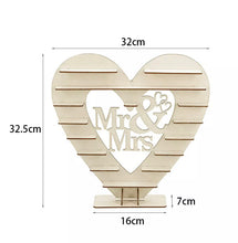 Load image into Gallery viewer, Mr & Mrs Chocolate Heart Display Stand