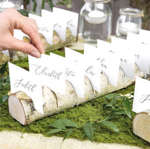 Load image into Gallery viewer, Wooden Log Multi Place Card Holder