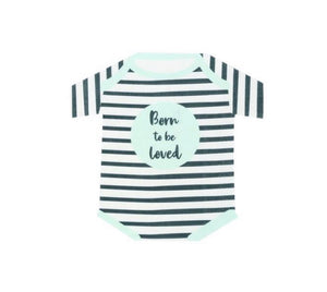 Talking Tables Born To Be Loved Babygrow Shaped Napkins