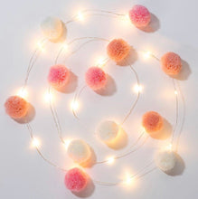 Load image into Gallery viewer, Talking Tables We Heart Pink Pom Pom Lights