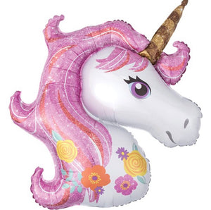 "Magical Unicorn Supershape Balloon - 33"" Foil"