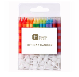 Talking Tables Birthday Bash Striped Candles