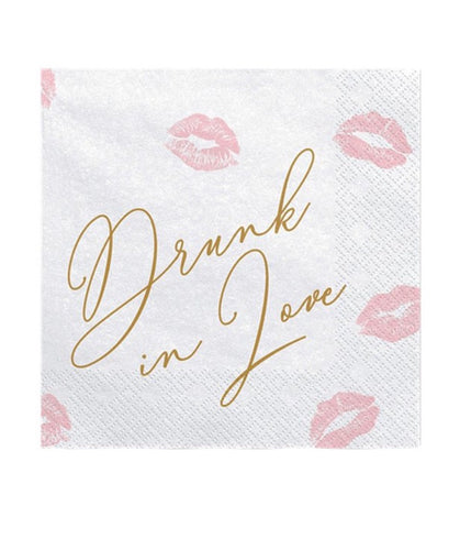 Drunk In Love Lips Paper Napkins
