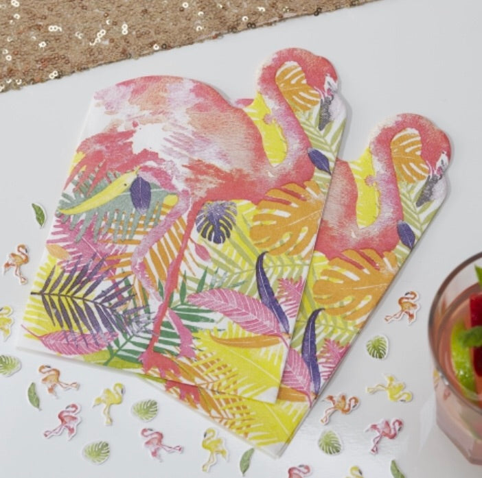 Ginger Ray Flamingo Shaped Napkins