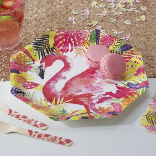 Ginger Ray Flamingo Paper Plates